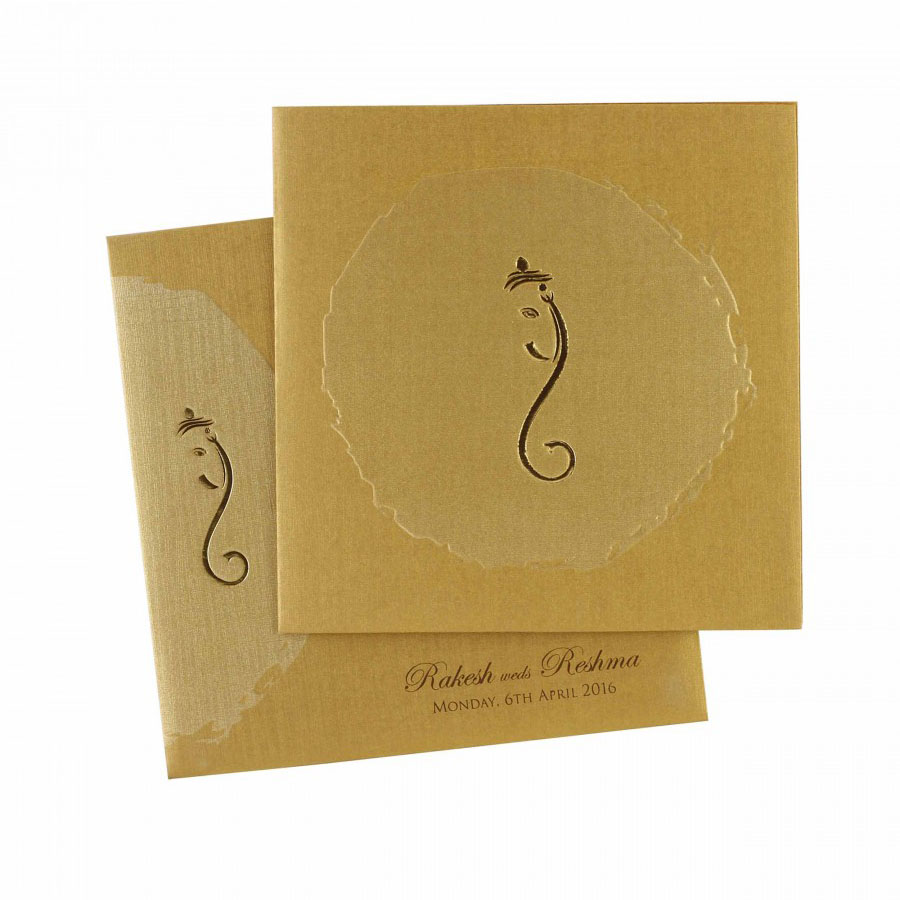 Ganesha Hindu Wedding Invitation, Indian Wedding Card | IWM-362 ...