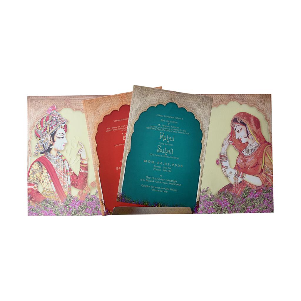 Dulha Dulhan Wedding Card Bride Groom Invitation Card Iwm N9168