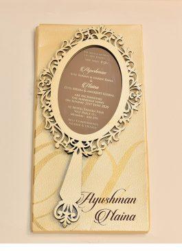 mirror style invitation card