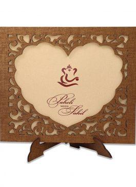 photo frame wedding card