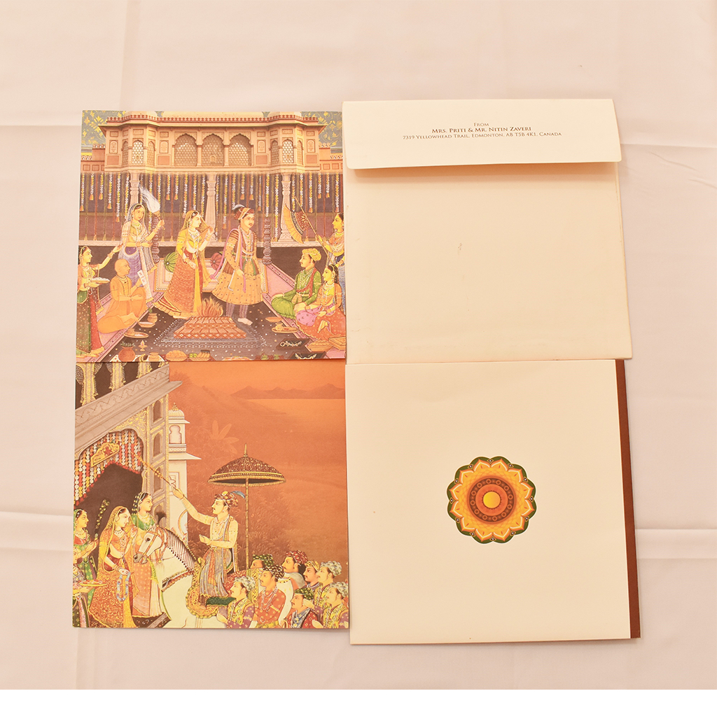 Indian Traditional Design Multicolor Wedding Invitation Iwm Pc1630