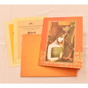 radha krishna indian wedding card