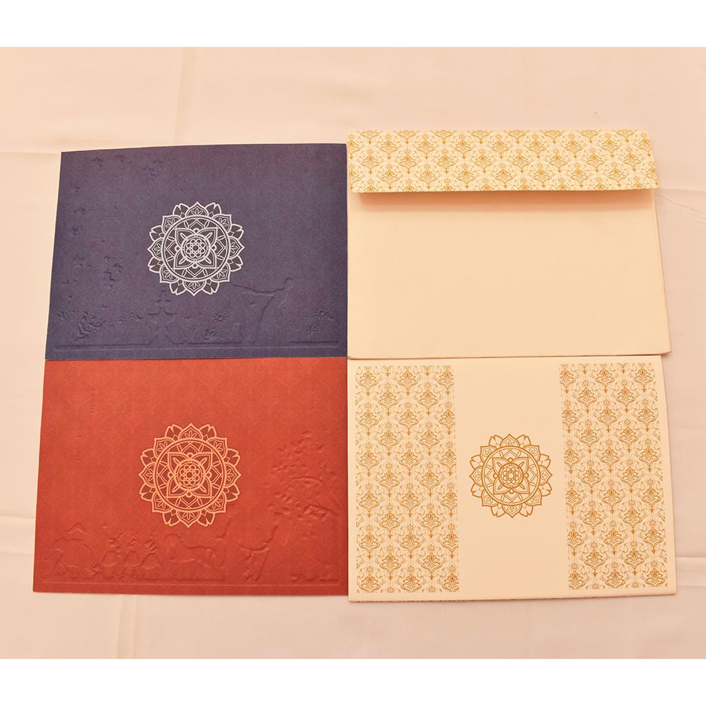 Rajasthani Style Indian Wedding Invitation Card Iwm 1627
