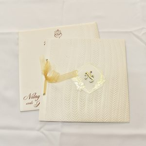 cream color invitation
