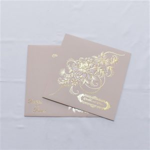 foil stamped wedding card