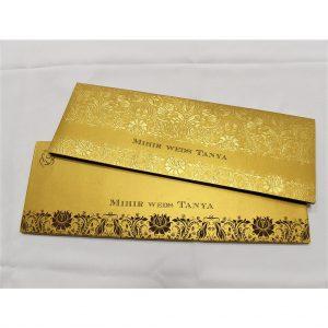 foil stamped wedding card