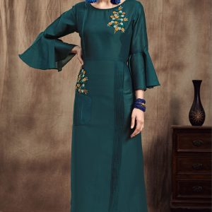 teal blue color kurti