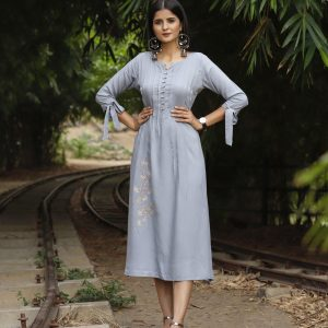 grey color kurti