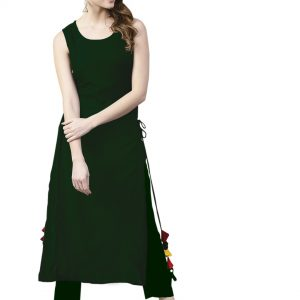 dark green color kurti