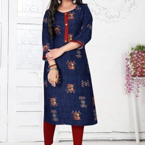 nevy blue color kurti