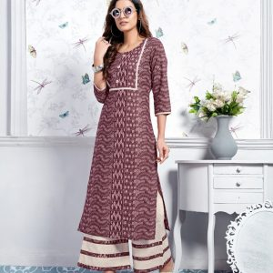 wine color kurti