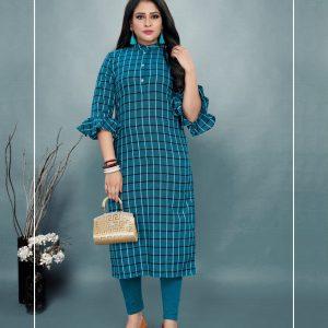 blue color kurti