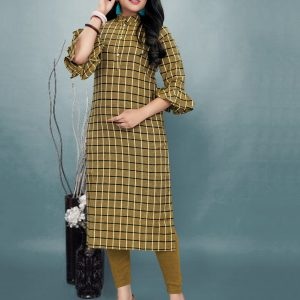 olive green color kurti