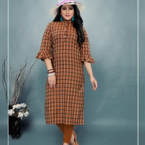 brown color kurti