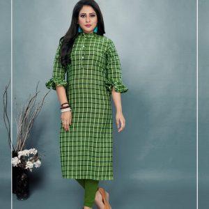 green color kurti