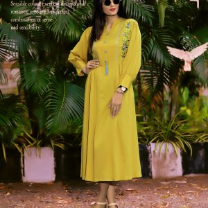 yellow color kurti