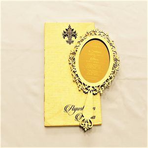 laser cut wedding card