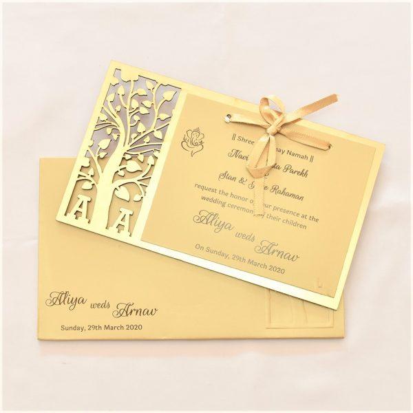laser cut wedding card
