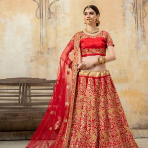 red color lehenga choli