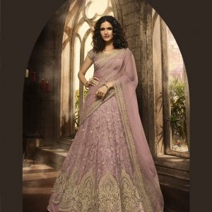 lilac pink color lehenga choli