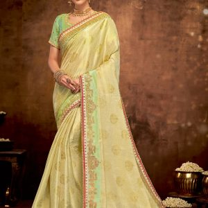 yellow color saree