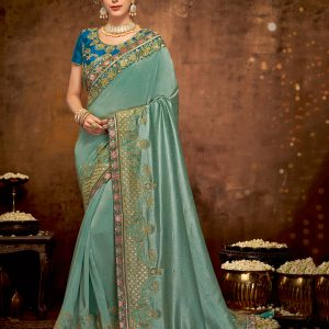 blue color saree