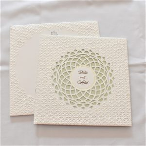 box wedding card