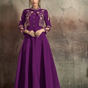 purple color gown