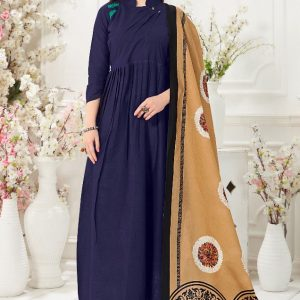 navy blue color gown
