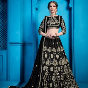 black color lehenga