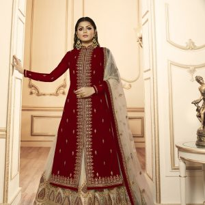 cream color lehenga