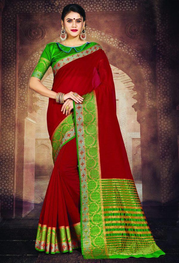 maroon color saree