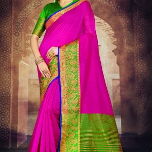 dark pink color saree