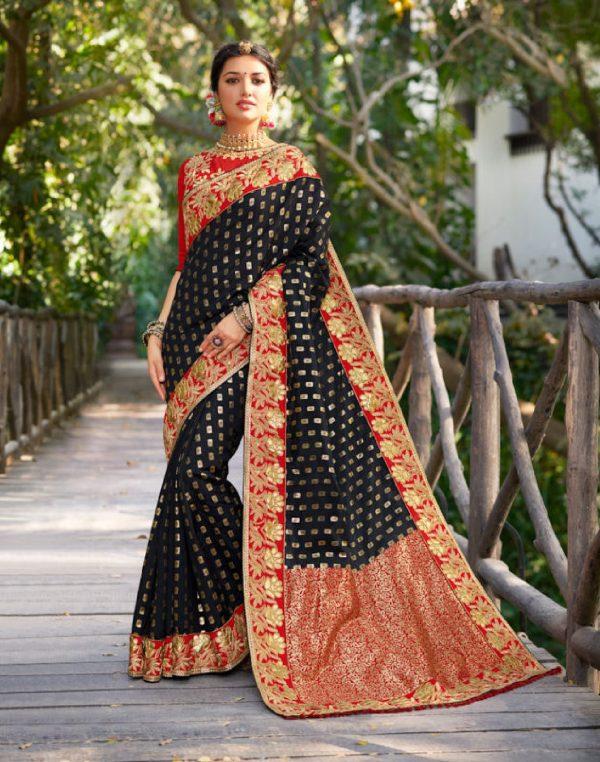 black color saree