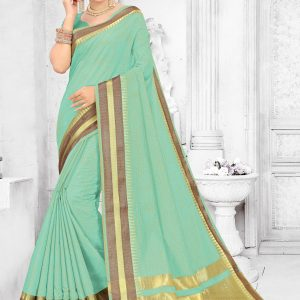 sea green color saree