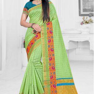 light green color saree