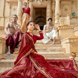 maroon color saree
