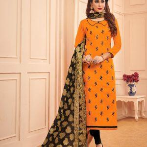 orange color suit