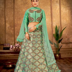light green color lehenga