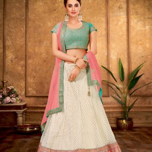 white color lehenga