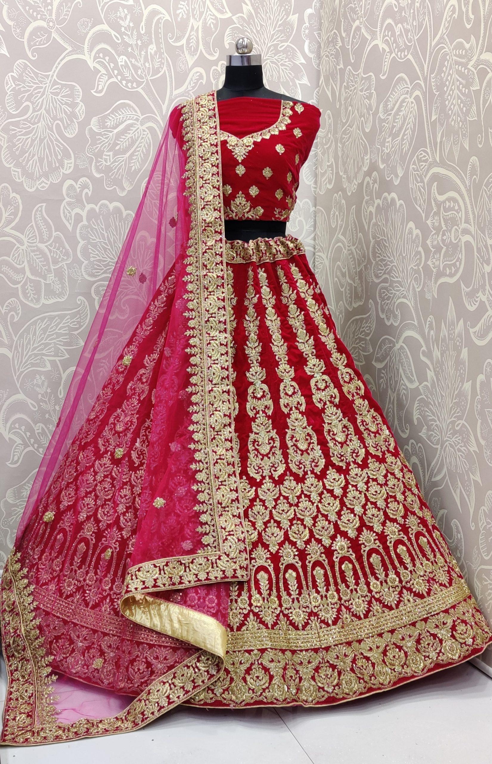 Velvet Fabric Lehenga In Rani Pink Color Iwm Pr4781 Soft net in 2.25 mtr length. velvet fabric lehenga in rani pink color iwm pr4781