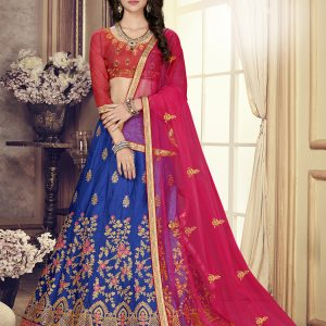 royal blue color lehenga