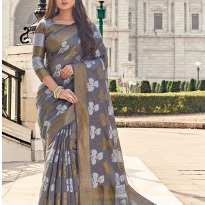 grey color saree
