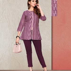 purple color kurti