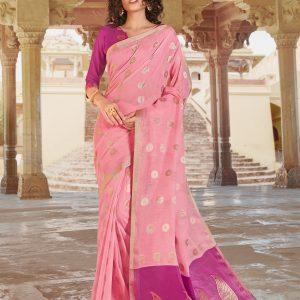 light pink saree