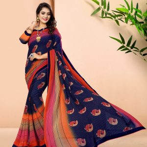 multi color saree